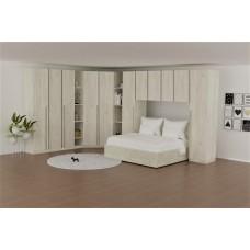 Спален комплект Зара  /дъб крафт бяло/ Модулна система