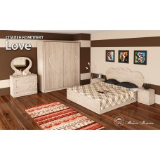 Спален комплект Love /дъб сонома/